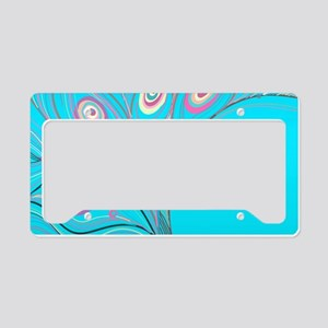 Colorful Feathers License Plate Holder