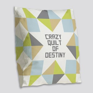 Crazy Quilt of Destiny Burlap Throw Pillow