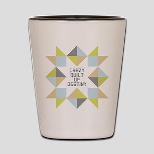 Crazy Quilt of Destiny Shot Glass