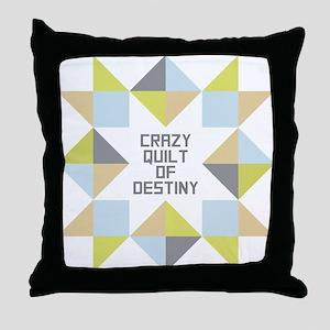 Crazy Quilt of Destiny Throw Pillow