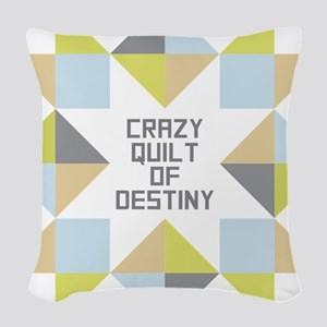 Crazy Quilt of Destiny Woven Throw Pillow