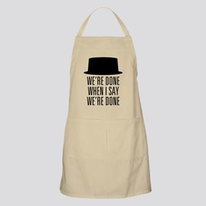 Breaking Bad - Were Done Apron