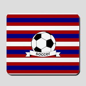 Soccer Ball RWB Mousepad