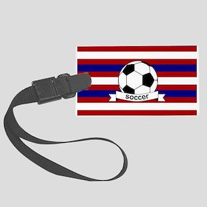 Soccer Ball RWB Large Luggage Tag