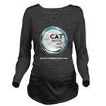 CAT logo Long Sleeve Maternity T-Shirt