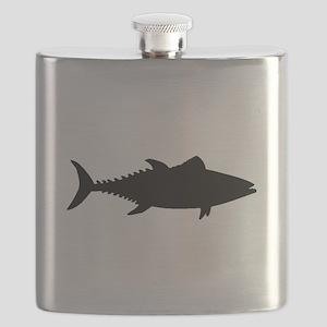 Tuna Fish Silhouette Flask