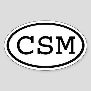 CSM Oval Oval Sticker