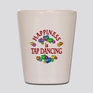 Happiness is Tap Dancing Shot Glass