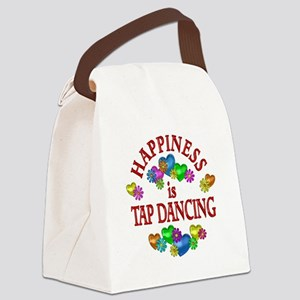 Happiness is Tap Dancing Canvas Lunch Bag