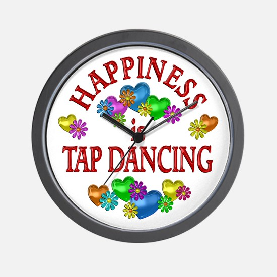 Happiness is Tap Dancing Wall Clock
