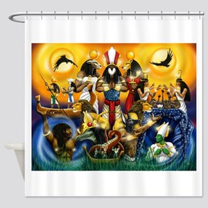 The Gods81 Shower Curtain