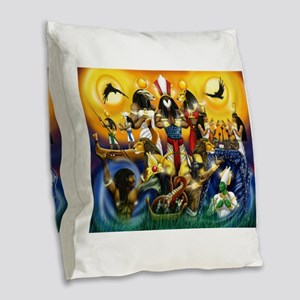 The Gods81 Burlap Throw Pillow