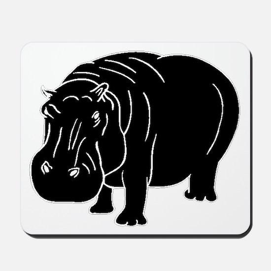 Hippopotamus Silhouette Mousepad