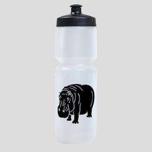 Hippopotamus Silhouette Sports Bottle