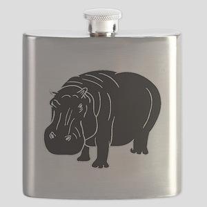 Hippopotamus Silhouette Flask