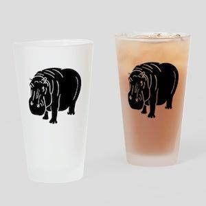 Hippopotamus Silhouette Drinking Glass