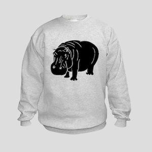 Hippopotamus Silhouette Sweatshirt
