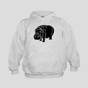 Hippopotamus Silhouette Hoodie