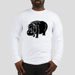Hippopotamus Silhouette Long Sleeve T-Shirt