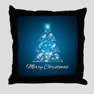 Sparkly Christmas Tree Throw Pillow