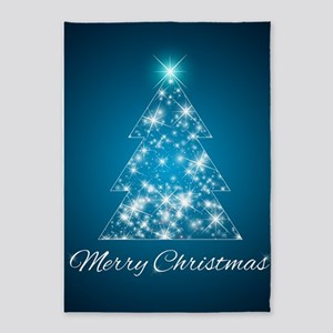 Sparkly Christmas Tree 5'x7'Area Rug