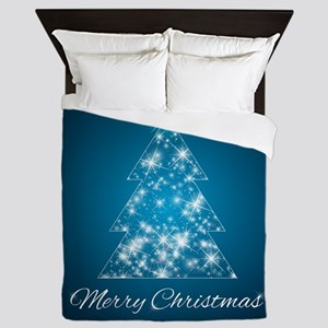 Sparkly Christmas Tree Queen Duvet