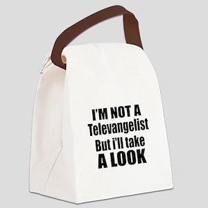 I Am Not Televangelist Canvas Lunch Bag