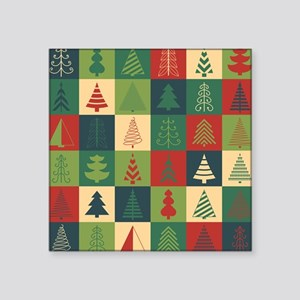 Christmas Tree Patches Sticker
