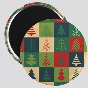 Christmas Tree Patches Magnets