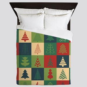 Christmas Tree Patches Queen Duvet