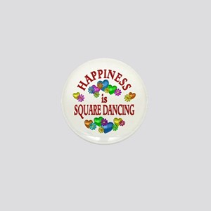 Happiness is Square Dancing Mini Button