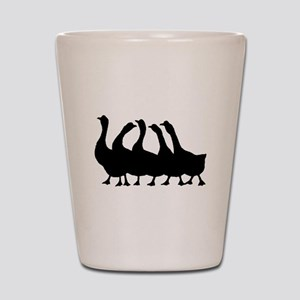 Geese Silhouette Shot Glass