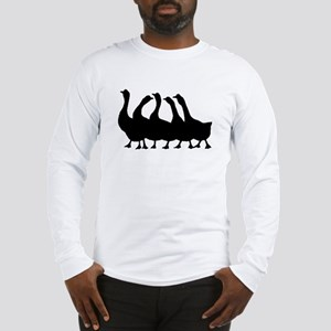 Geese Silhouette Long Sleeve T-Shirt
