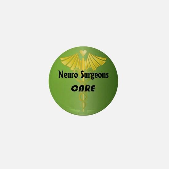 Neuro Surgeons Care Mini Button