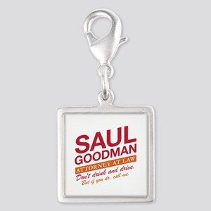 Breaking Bad - Saul Goodman Silver Square Charm