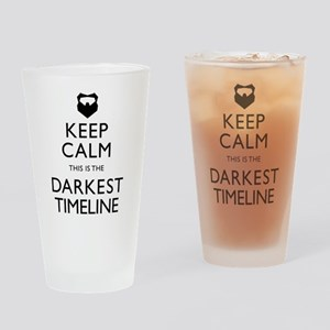 Keep Calm Darkest Timeline Community Drinking Glas