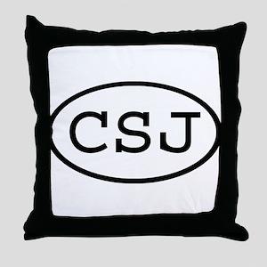 CSJ Oval Throw Pillow