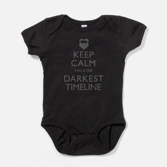 Keep Calm Darkest Timeline Community Baby Bodysuit