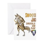 Smooth Sax Greeting Cards