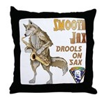 Smooth Sax Throw Pillow