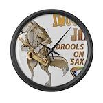 Smooth Sax Large Wall Clock
