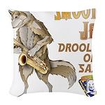 Smooth Sax Woven Throw Pillow