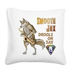 Smooth Sax Square Canvas Pillow