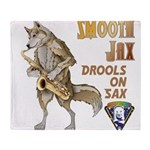 Smooth Sax Throw Blanket