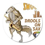 Smooth Sax Round Car Magnet