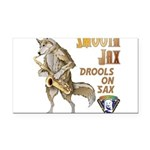 Smooth Sax Rectangle Car Magnet