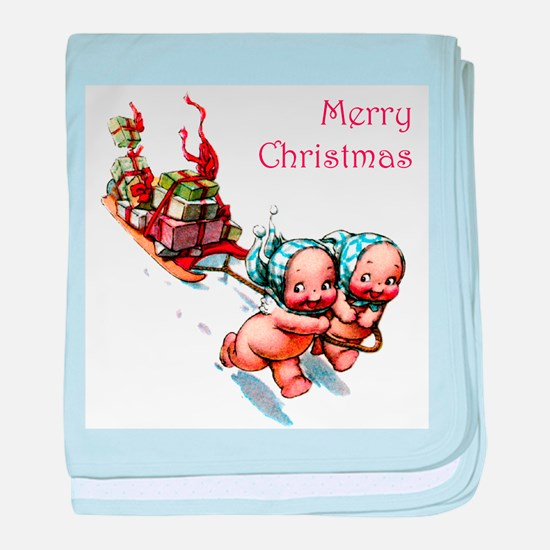 Cupies Christmas Sleigh baby blanket