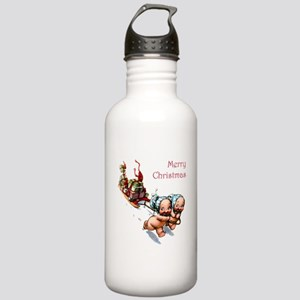 Cupies Christmas Sleig Stainless Water Bottle 1.0L