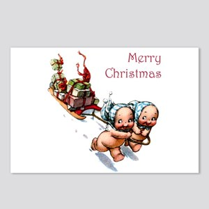 Cupies Christmas Sleigh Postcards (Package of 8)