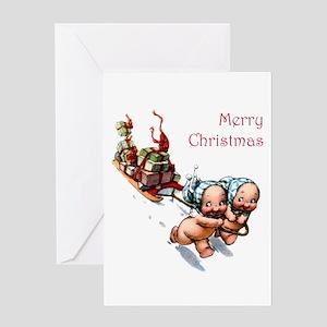 Cupies Christmas Sleigh Greeting Card